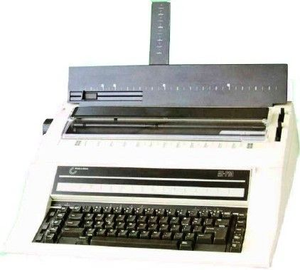 Nakajima AE-710 Electronic Office Typewriter, 21 Function Keys, 20 CPS, 2 Key Roll Over System, Printing Width: 11.5
