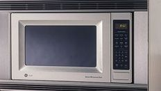 ge general electric je1860sbss ge profile 18 cu ft countertop microwave oven with sensor