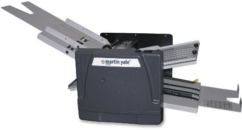 Martin Yale 1217A Automatic Paper Folder; Dark Gray; Automatically feeds, folds and collects a stack of documents from 4