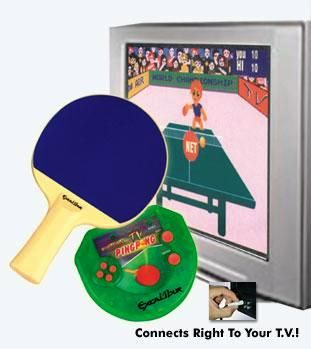 Excalibur Electronics VR03 Ping Pong Live Virtual Plugs into TV, Cordless Paddle included (VR-03, VR 03)
